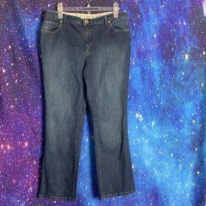 Land's End- Medium Wash Bootcut Jeans size 12 P